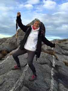 Karen reached the summit of Mount Kinabalu